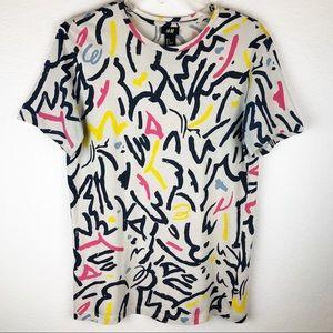 90s Vibe Abstract Print Tee